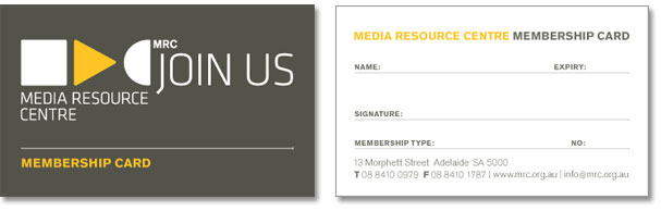 An image showing the two sides of the MRC membership card.